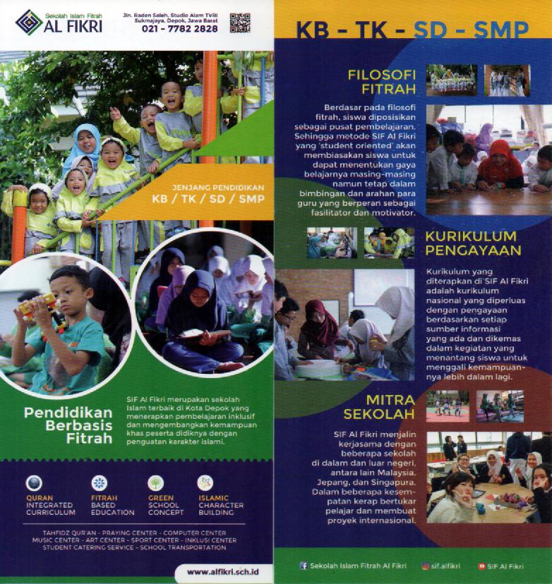 brosur sekolah Islam Fitrah Al Fikri